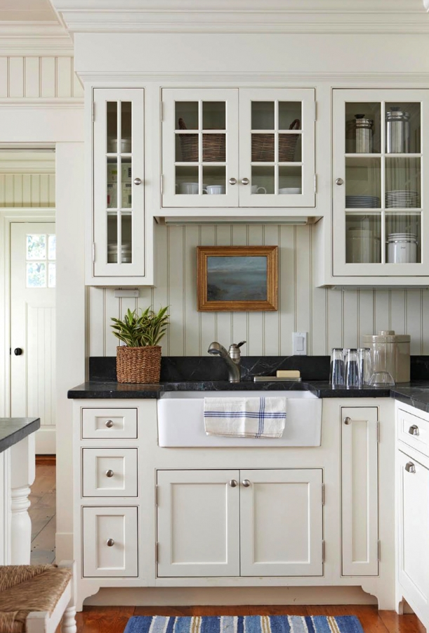 Storied charm colonial reproductions inc for White cottage kitchen designs